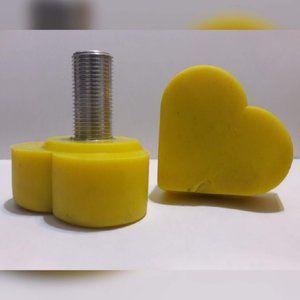 Grindstone Roller Skate Heart Toe Stops Yellow